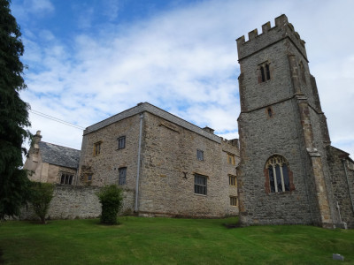Manor house and church at Wast Quantoxhead
