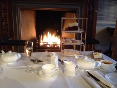 Afternoon tea at Bovey Castle