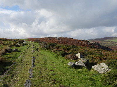 The Haytor Granite Tramway near Holwell Quarry