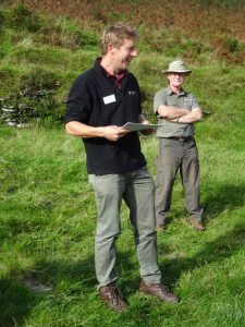 Dan Barnett (ENPA), with Simon Dell of Dartmoor's Moorland Guides