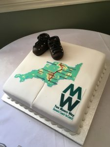 The celebratory cake (sadly the extension to Wembury on the south coast got left out!)